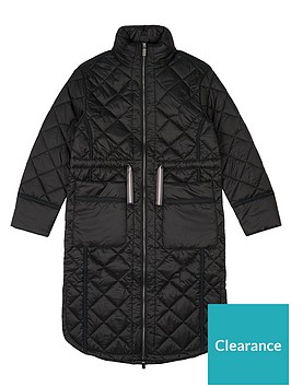 hunter-originalnbsprefined-long-quilted-coat-black