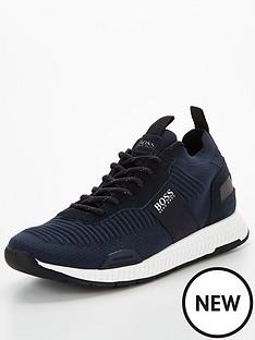 boss-titanium-knit-runner-trainers-navy
