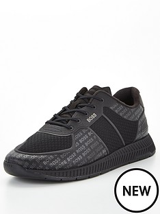 boss-titanium-tonal-logo-runner-trainers-black
