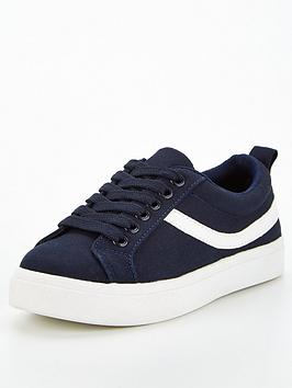 v-by-very-boys-canvas-lace-up-trainer-black
