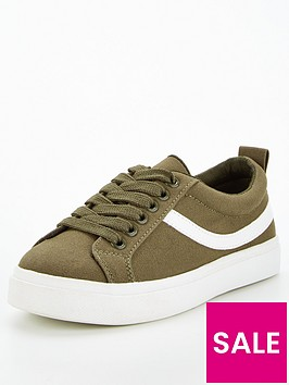 v-by-very-boys-canvas-lace-up-trainer-khaki