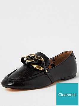 river-island-oversized-chain-loafer-black