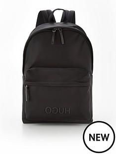 hugo-record-logo-backpack-black