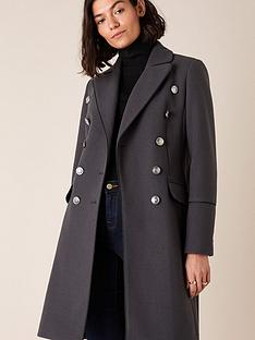 monsoon-marie-military-coat-charcoal