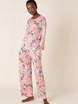 monsoon-floral-print-nightwear-set-pink
