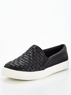 v-by-very-alvin-weave-slip-on-trainer-black