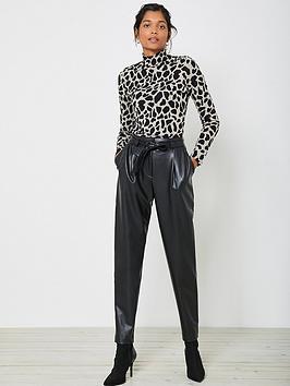 mint-velvet-faux-leather-trouser-black
