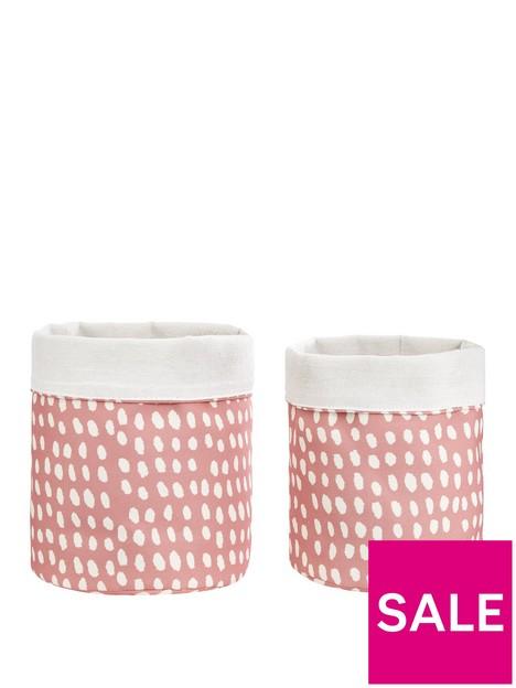 set-2-earthtones-dots-fabric-basket