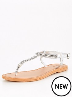 v-by-very-candy-embellished-leather-toe-post-sandal-silver