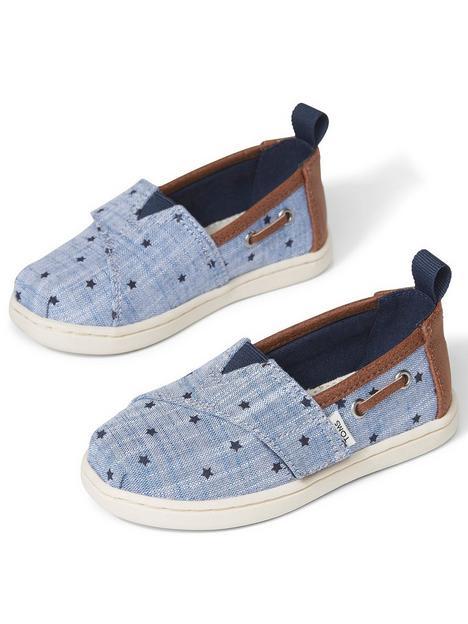 toms-alpagarta-toddler-chambray-stars-canvas-shoenbsp--blue