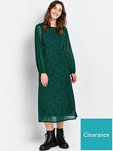 wallis-leopard-mesh-dress--nbspgreennbsp