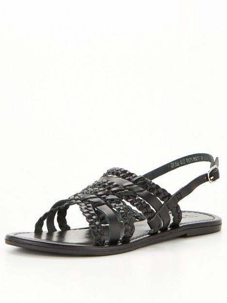 v-by-very-huarache-leather-sandal-black