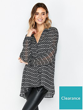 wallis-mono-aztec-lurex-shirt-blackwhite