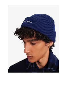 fred-perry-wreath-beanie-hat-blue