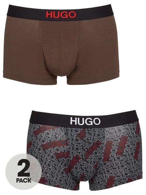 hugo-bodywear-2-pack-mixed-print-logo-trunks