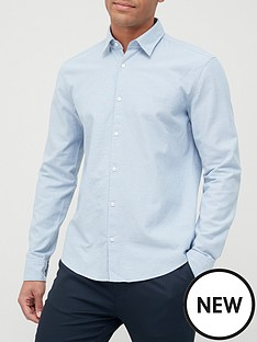hugo-ermo-oxford-shirt-open-blue