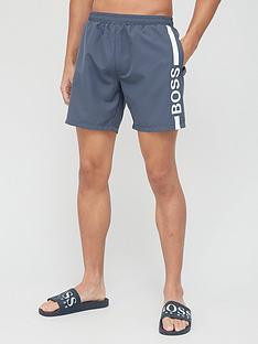 boss-stripe-swim-shorts-charcoalnbsp