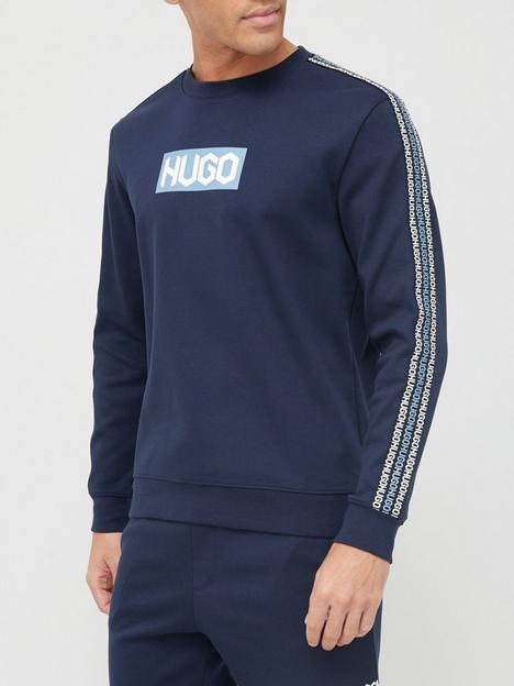 hugo-debeshi-tape-logo-sweatshirt-dark-bluenbsp