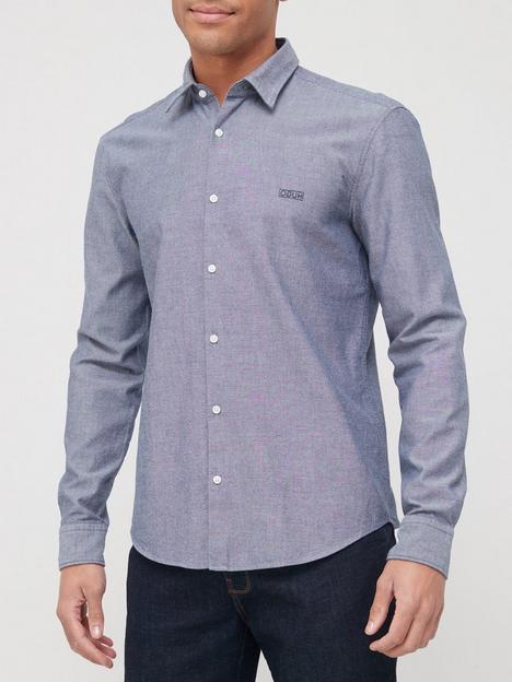 hugo-ermo-oxford-shirt-navy
