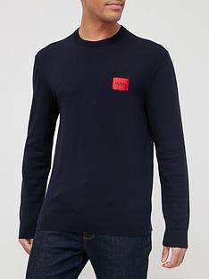 hugo-san-claudio-4-red-patch-logo-knitted-jumper-navy