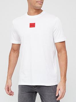 hugo-diragolino-red-patch-logo-t-shirt-white