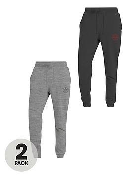 jack-jones-2-pack-jersey-skinny-fit-joggers-greyblack