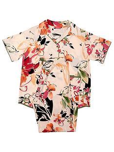 minijammies-girls-natalie-floral-print-short-sleeve-pyjama-set-peach