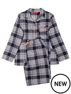 minijammies-boys-thomas-check-long-sleeve-pyjama-set-navy