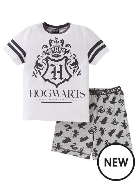 harry-potter-boysnbsphogwarts-shorty-pyjamas-white