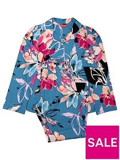 minijammies-girls-hannah-floral-print-long-sleeve-pyjama-set-blue