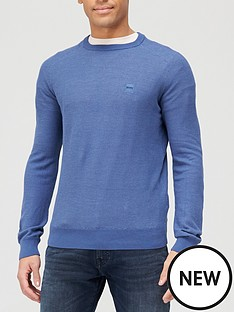 boss-amador-chest-logo-knitted-jumper-light-blue