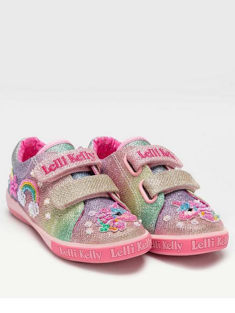 lelli-kelly-treasure-unicorn-double-strap-plimsoll-multi