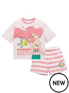 disney-princess-girlsnbspthe-little-mermaid-ariel-mermaid-hair-dont-care-shorty-pyjamas-pink