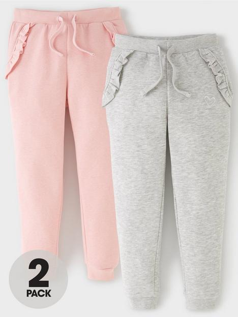 mini-v-by-very-girls-2-pack-frill-joggers-pink-grey