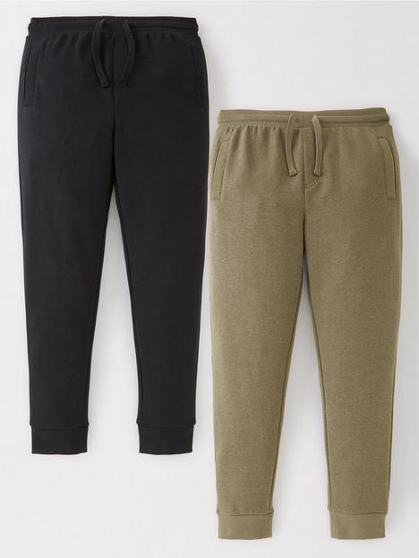 v-by-very-boys-essential-2-pack-skinny-joggers-blackkhaki