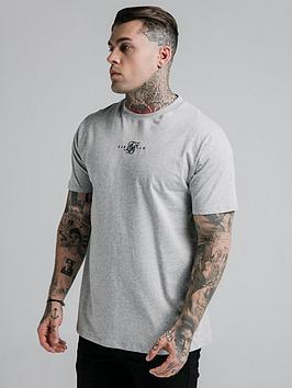 sik-silk-short-sleeve-basic-core-t-shirt-grey-marl