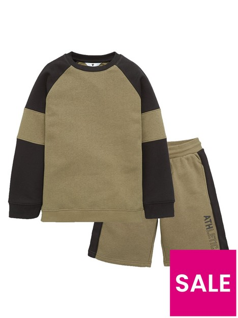 v-by-very-boys-cut-and-sew-sweat-and-short-set-khakiblack