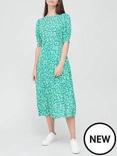 v-by-very-round-neck-midi-dress-green-floral