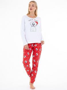 brave-soul-christmasnbspsanta-paws-pj-trouser-set-red