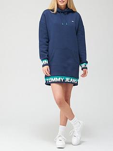 tommy-jeans-tjw-branded-hem-sweat-dress-navy