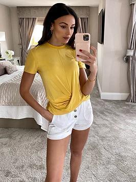michelle-keegan-wrap-hem-t-shirt-yellow