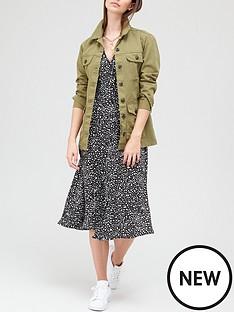 v-by-very-button-down-short-sleeve-midi-dress-printnbsp