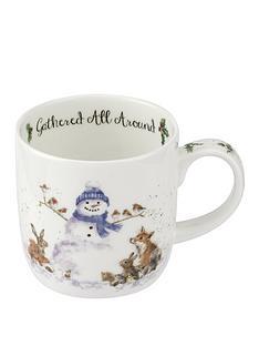 royal-worcester-wrendale-gathered-all-around-snowman-mug