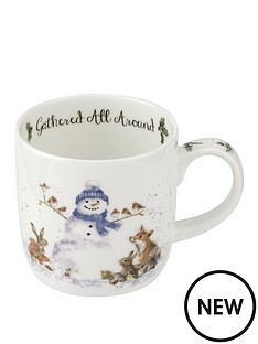 royal-worcester-wrendale-gathered-all-around-snowman-mug