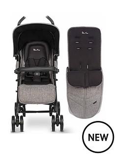 silver-cross-reflex-brompton-stroller-amp-free-footmuff