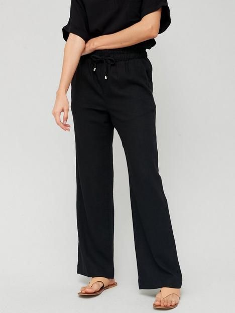 v-by-very-linen-mix-trouser-black