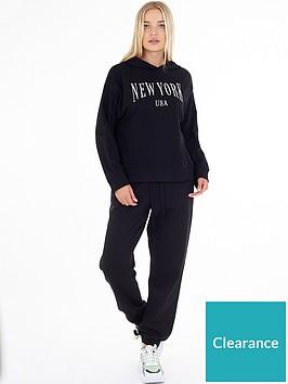 brave-soul-new-york-slogan-hoodie-black