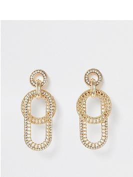 river-island-chunky-chain-interlock-earring-gold