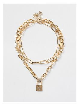 river-island-ri-padlock-chunky-chain-necklace-gold