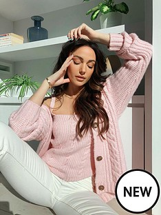 michelle-keegan-cable-knit-cami-co-ord-pink